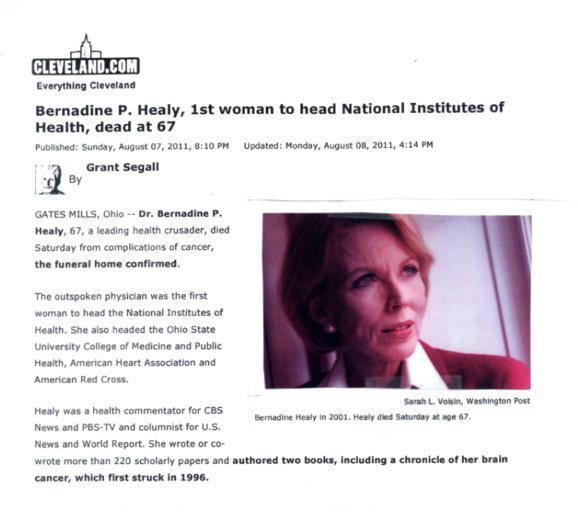 Bernadine healy case study